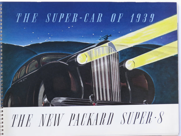1939 Packard Super-8 Prestige Brochure with Envelope Super Eight