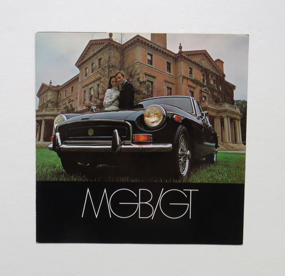 1970 Morris Garages MG MGB GT Brochure