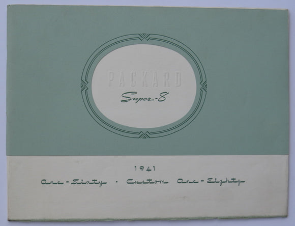 1941 Packard Super-8 One-Sixty and Custom One-Eighty Prestige Brochure
