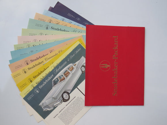 1958 Studebaker-Packard Color Specification Sheet Portfolio Folder Hawk President