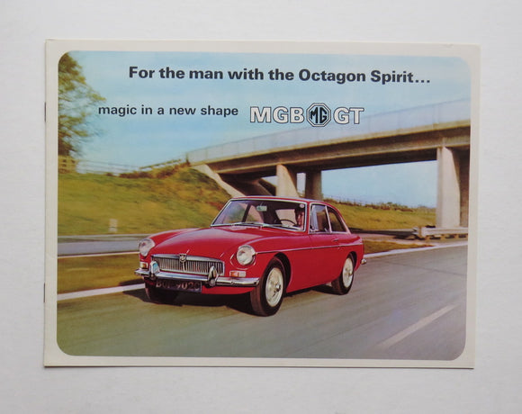 1966 Morris Garages MG MGB GT Brochure