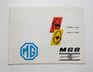 1963 Morris Garages MG MGB Brochure