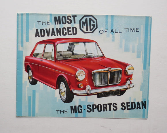 1964 Morris Garages MG Sports Sedan Brochure