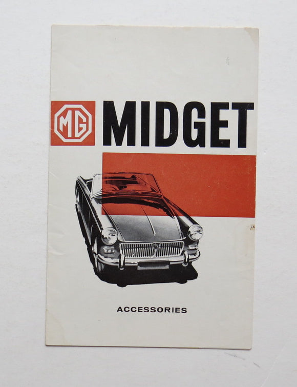 1963 Morris Garages MG Midget Accessories Brochure
