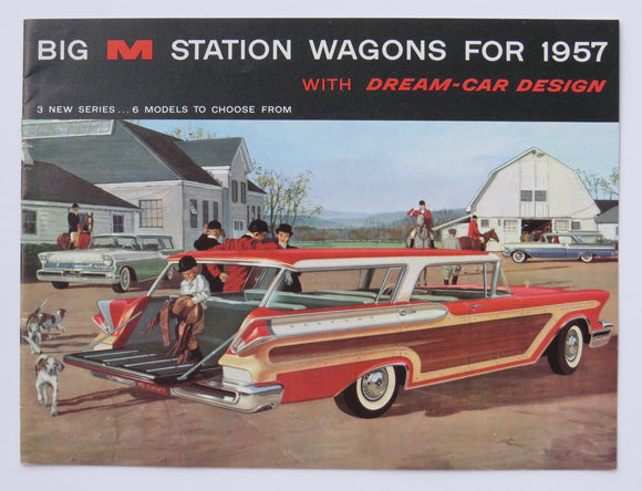 1957 Mercury Station Wagon Full Line Brochure Colony Park Voyager Commuter
