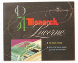 1954 Monarch Lucerne Series Foldout Brochure Coupe Sedan Sun Valley