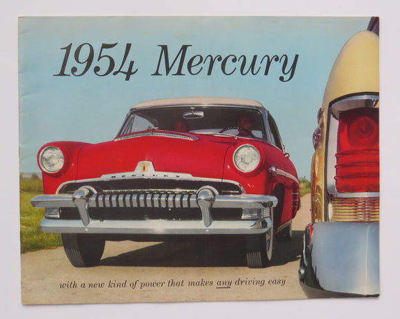1954 Mercury Full Line Brochure Monterey Series Custom Sun Valley Coupe Sedan