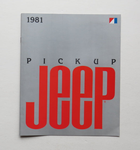 1981 Jeep Pickup Brochure