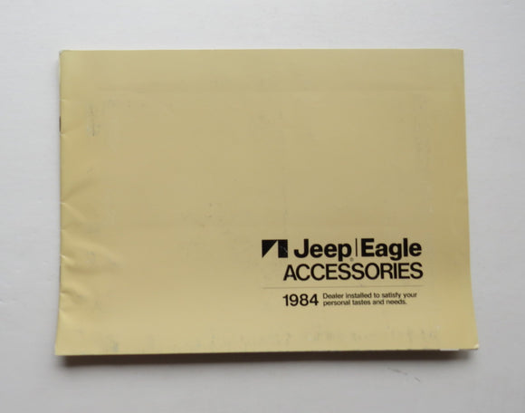 1984 Jeep Eagle Accessories Brochure Pickup Wagoneer Cherokee Loredo CJ