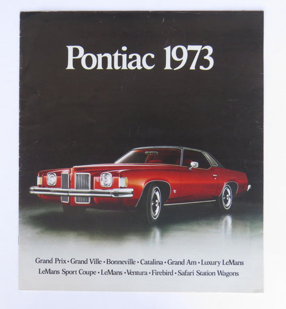 1973 Pontiac Full Line Brochure LeMans Grand Prix Catalina Grand Safari More