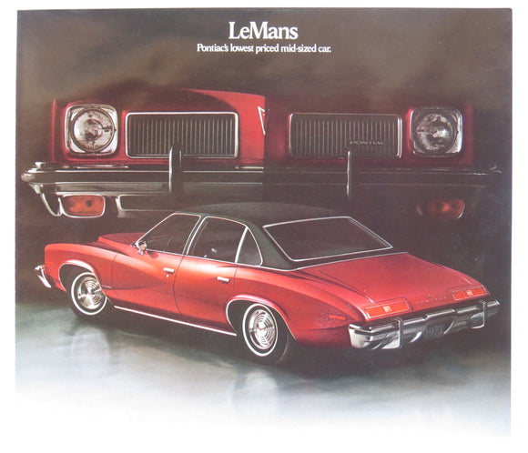 1973 Pontiac LeMans Brochure 2-Door 4-Door Colonnade Hardtop