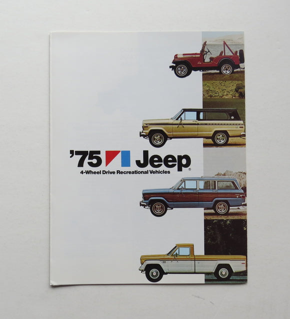 1975 Jeep Recreational Vehicle Brochure CJ-5 Pickup Wagoneer Cherokee