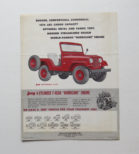 1959 Jeep CJ-5 Brochure