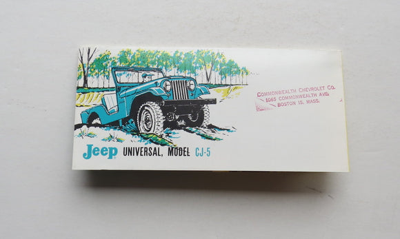 1961 Jeep Universal Model CJ-5 Brochure