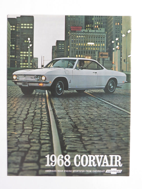 1968  Chevrolet Corvair Foldout Brochure Corvair 500 Monza