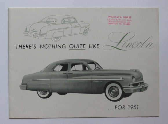 1951 Lincoln Foldout Brochure Sport Sedan Six-Passenger Coupe
