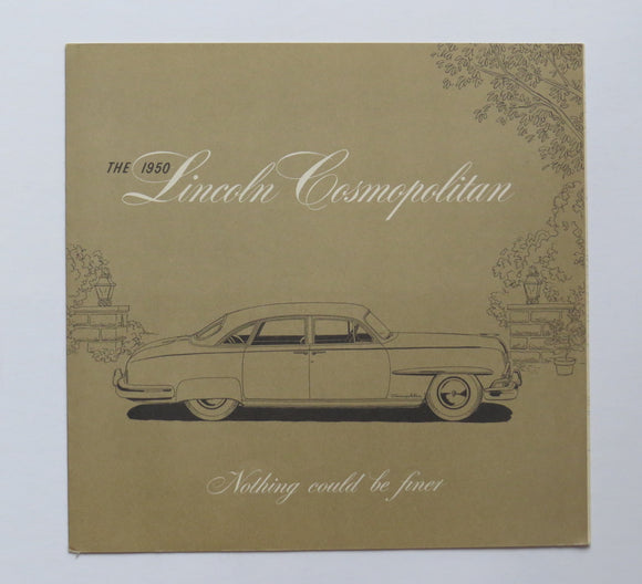 1950 Lincoln Cosmopolitan Foldout Brochure Sports Sedan Coupe Convertible