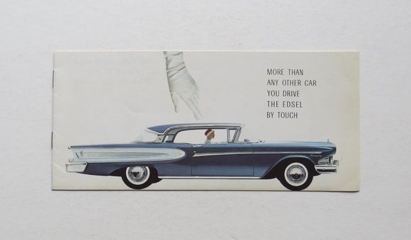 1958 Ford Edsel Features Brochure