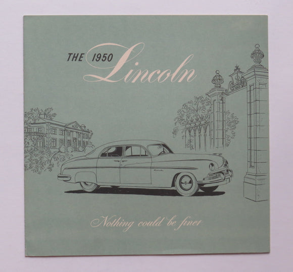 1950 Lincoln Brochure Sport Sedan Six-Passenger Coupe