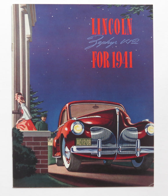 1941 Lincoln Zephyr V12 Brochure Sedan Club Coupe Convertible