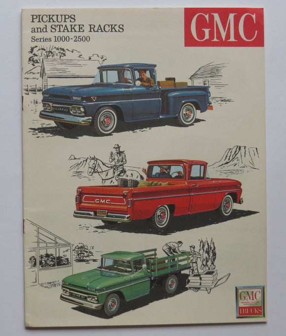 1963 GMC Series 1000-2500 Truck Brochure Pickup Stake Racks Custom Deluxe