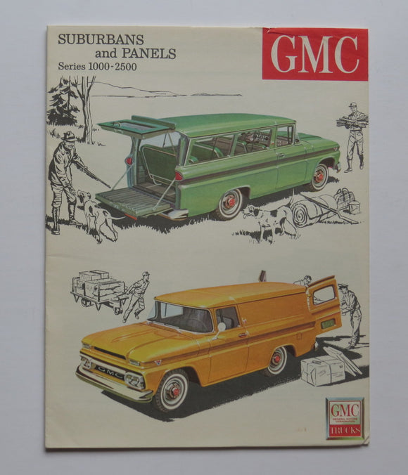 1963 GMC Series 1000-2500 Truck Brochure Suburban Panel Custom Deluxe