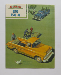 1958 GMC 150 and 150-8  Pickup Truck Foldout Brochure