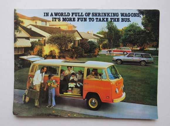 1979 Volkswagen Bus Campmobile Brochure