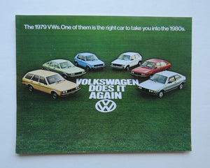 1979 Volkswagen Full Line Brochure Rabbit Diesel Scirocco Dasher Beetle Campmobile
