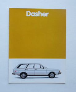 1981 Volkswagen Dasher Brochure