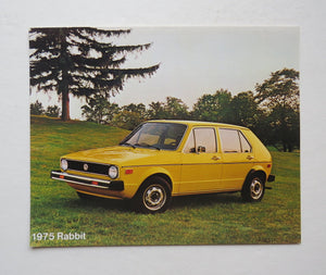 1975 Volkswagen Rabbit Brochure One Page
