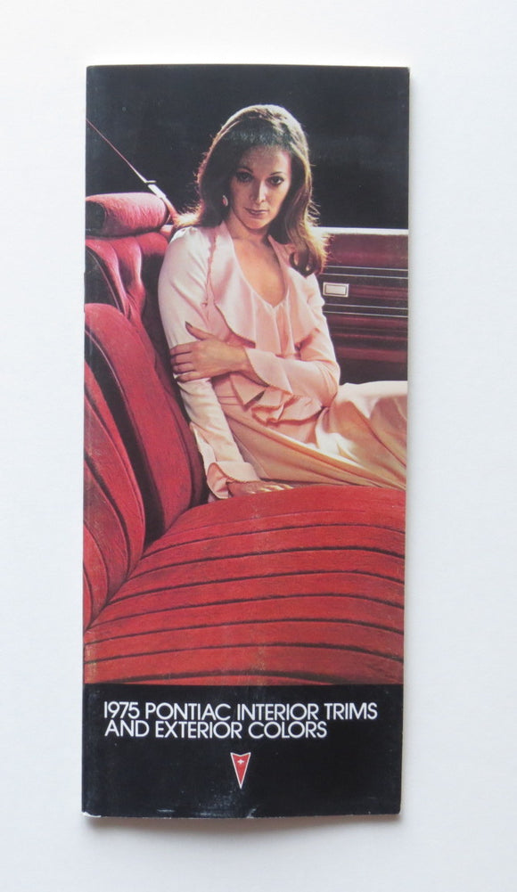 1975 Pontiac Full Line Interior Trims Exterior Colors Brochure