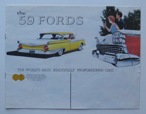 1959 Ford Brochure Thunderbird Fairlane 300