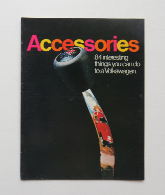 1974 Volkswagen Accessories Brochure Campmobile 412 Karmann Ghia Beetle
