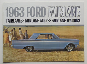 1963 Ford Fairlane 500 Wagons Brochure