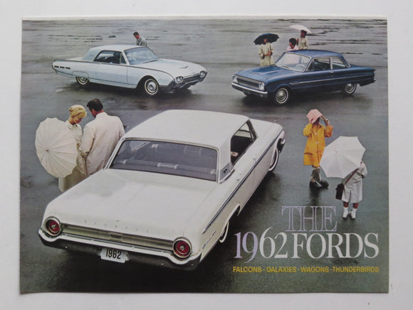 1962 Ford Full Line Brochure Falcon Fairlane Galaxie Wagons Thunderbird