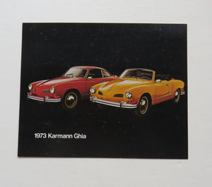 1973 Volkswagen Karmann Ghia Brochure Specifications