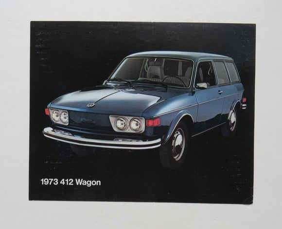 1973 Volkswagen 412 Wagon Brochure Specifications