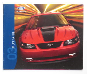 2003 Ford Mustang Brochure GT Mach 1