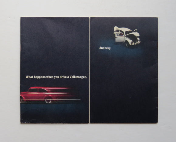 1966 What Happens When You Drive A Volkswagen And Why Brochure Beetle