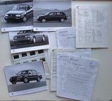 1995 Volkswagen Specifications and Photos Media Information Packet GTI Golf Cabrio Jetta Passat