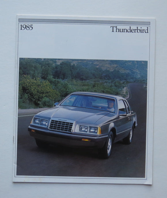 1985 Ford Thunderbird Brochure elan FILA Turbo