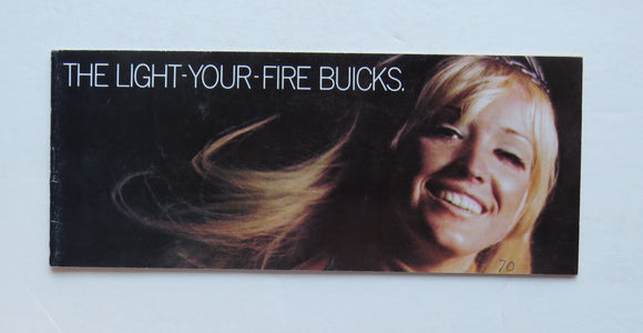 1970 Buick Light Your Fire Brochure  GS GS-455 Skylark 1