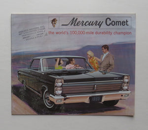 1965 Mercury Comet Brochure Caliente Cyclone 404 202