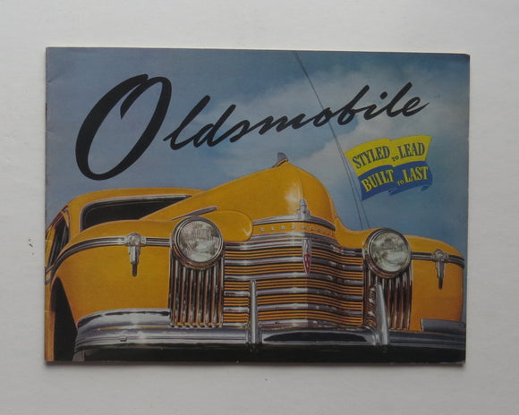 1940 Oldsmobile Brochure Series 66 68 76 78