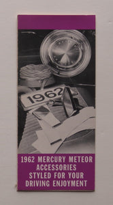 1962 Mercury Meteor Accessories Brochure