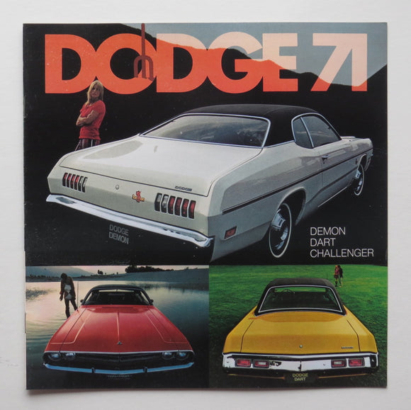 1971 Dodge Brochure Demon Dart Challenger