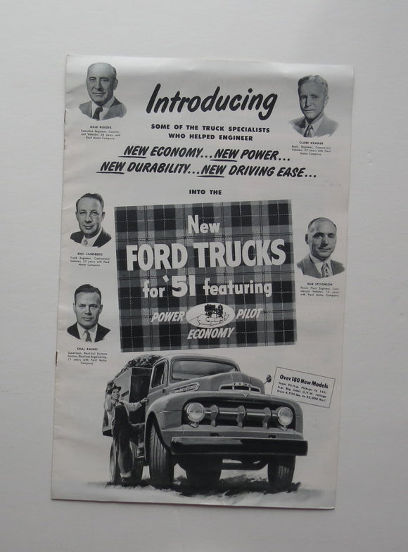 1951 Ford Brochure Trucks