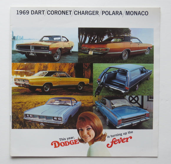1969 Dodge Brochure Dart Coronet Charger
