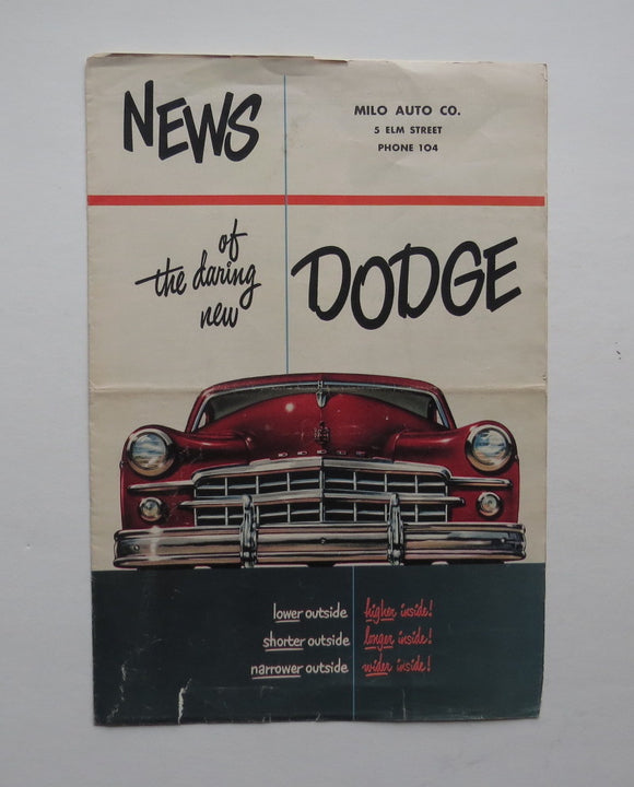 1949 Dodge Brochure Coronet Meadowbrook